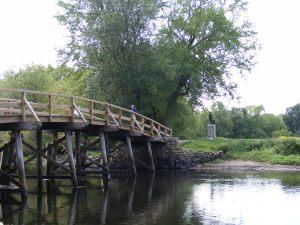 The old north bridge in concord