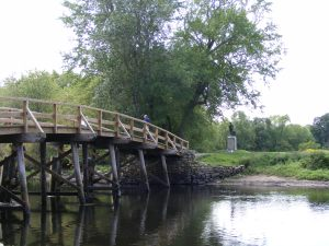 The old north bridge in concord