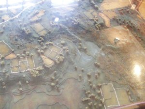 Part of the diorama at the visitors center
