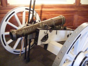 This is one of the actual cannons the British were trying to seize
